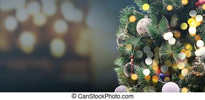 אור, bokeh, עץ, חג המולד, לילה