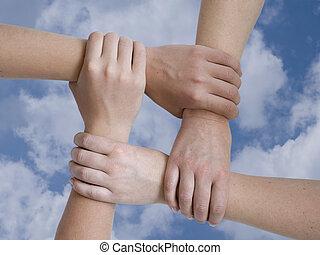 אחד, ידיים
