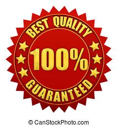 אחריות, זהב, guaranteed, אחוז, כנה, הכי טוב, הפרד, 100, איכות, אדום לבן