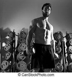 אימון, דאמבאל, אולם התעמלות, איש, כושר גופני