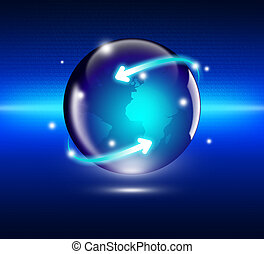אינטרנט, מושג, של, עסק גלובלי