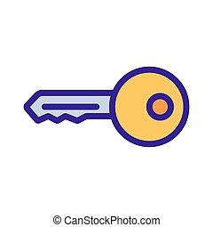 איקון עיקרי, דלת, מיתאר, דוגמה, סמל, הפרד, vector.