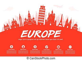 אירופה, טייל, landmarks.