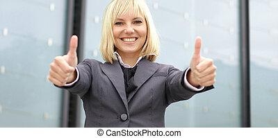 אישה, אטרקטיבי, עסק, צעיר