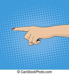 אישה, אצבע מצביעה, העבר