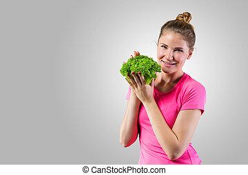 אישה בריאה, צעיר