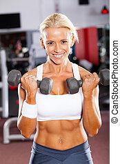 אישה, דאמבאלס, להתאמן, כושר גופני