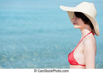 אישה יפה, להניח, ים