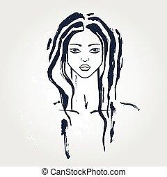 אישה יפה, portrait.