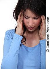 אישה, כאב ראש