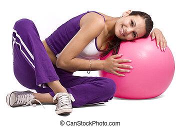 אישה, כדור, כושר גופני