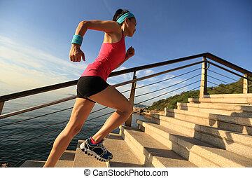 אישה, סגנון חיים, ספורט, בריא, רוץ