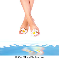 אישה, רגליים