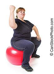 אישה, שומן, כושר גופני