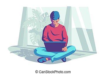 איש, מחשב נייד