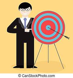 איש עסקים, זכות, הצגה, מרכז מטרה, הצלחה