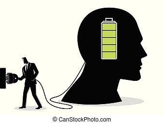 איש עסקים, טעינה, מוח