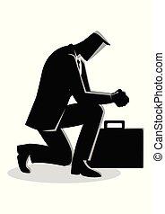 איש עסקים, להתפלל, דוגמה