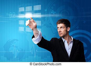 איש עסקים, לעבוד ב, טכנולוגיה מודרנית