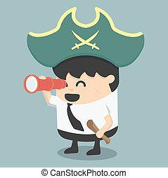 איש עסקים, צד, שודדי ים