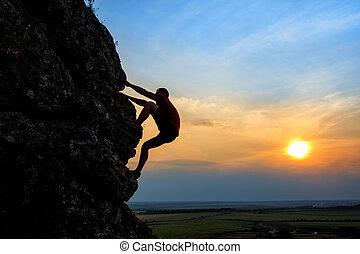 איש של הר, רכס, צעיר, לטפס