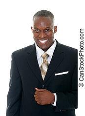 איש של עסק, ב, חליפה שחורה, 1
