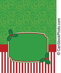 אלגנטי, *עם פסים, חג המולד, notecard