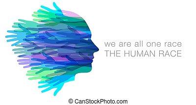 אנחנו, כל, בן אנוש, מישהו, race.
