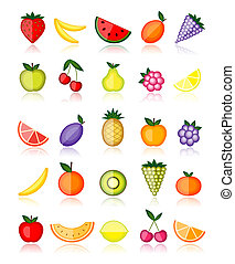 אנרגיה, אוסף, וקטור, עצב, fruits., שלך
