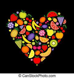 אנרגיה, פרי, צורה של לב