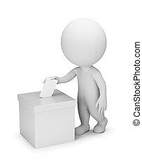 אנשים, להצביע, -, 3d, קטן