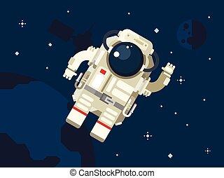 אסטרונאוט, ב, חלל החיצון