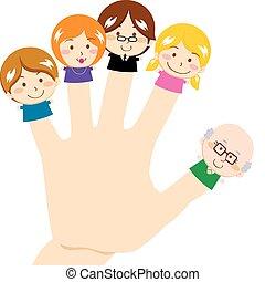 אצבע, משפחה