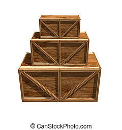 ארגזים מעץ