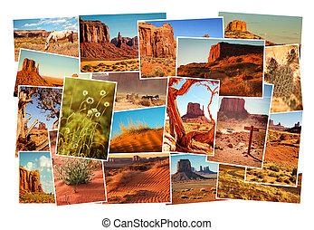 ארהב, קולז', תמונות, אריזונה, עמק של מצבת הזכרון