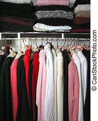 ארון, עם, בגדים