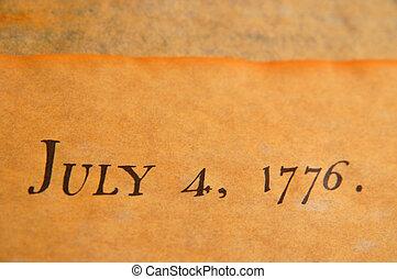 ארצות הברית, הצהרה של עצמאות