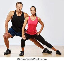 אתלטי, אישה של איש, התאמן, כושר גופני