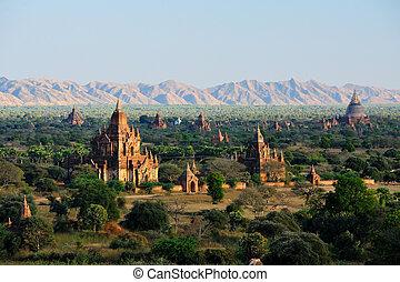 באגאן, עלית שמש, מעל, ביתי מקדש, מיאנמאר