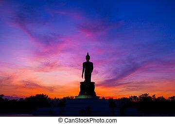בודהא, ב, sunset.