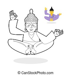 בודהא, הזמן, סטטוס, enlightenment., אלוהים, לשבת, book., ...