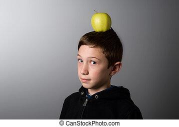 בחור, הובל, שלו, תפוח עץ ירוק