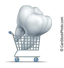 ביטוח של השיניים, קניות