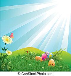 ביצים, חופשה, חג הפסחה, צבעוני