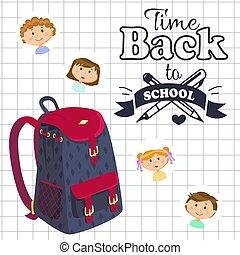 בית ספר, דף, ילקוט, השקע, זמן, מחברת
