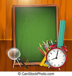 בית ספר, וקטור, -, השקע, רקע