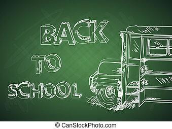 בית ספר, חינוך, bus., השקע