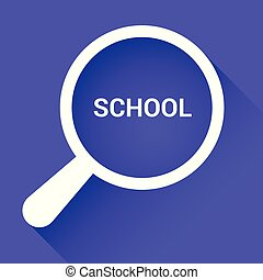 בית ספר, כוס, אופטי, מילים, חינוך, להגדיל, concept: