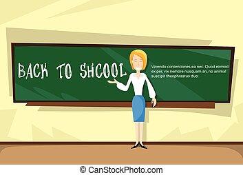 בית ספר, מעל, השקע, מורה, עלה, דגל, סוג
