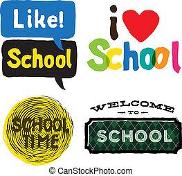 בית ספר, קבע, איקונים